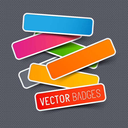 Vector sticker collection, a set of vector labels.  Vector