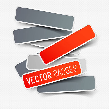Vector sticker collection, a set of vector labels.