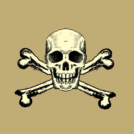 Skull and Bones design element Vector