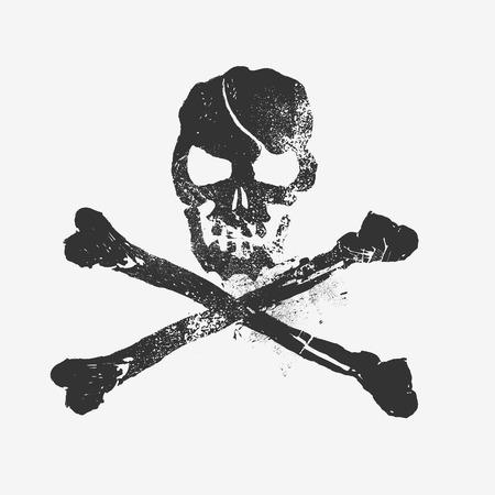 huesos humanos: Skull and Bones elemento de diseño Vectores