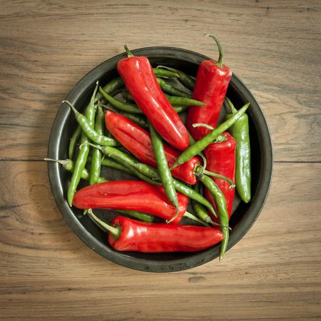 bonnet up: Fresh mixed Chili Pepper Selection
