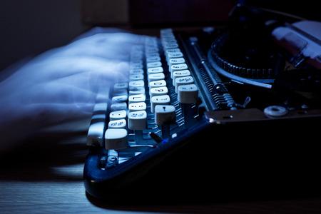 Typing notes on an old vintage typewriter