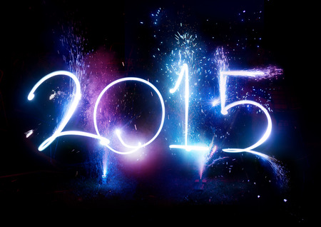 tűzijáték: 2015 Tűzijáték party - Happy New Year megjelenítése ünnepek!