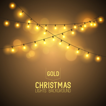 Warm Glowing Christmas Lights. Vector illustration Ilustrace