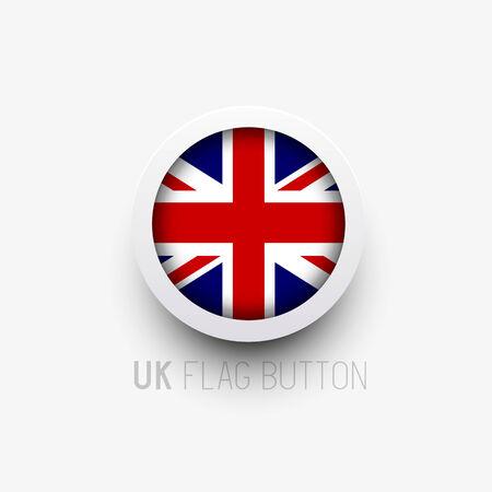 bandera de reino unido: Un bot�n de la bandera del vector del Reino Unido. Ilustraci�n del vector. Vectores