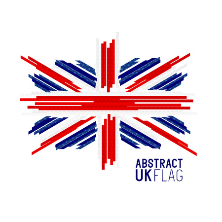 Abstract UK Union Jack Flag Vector. Vector illustration.