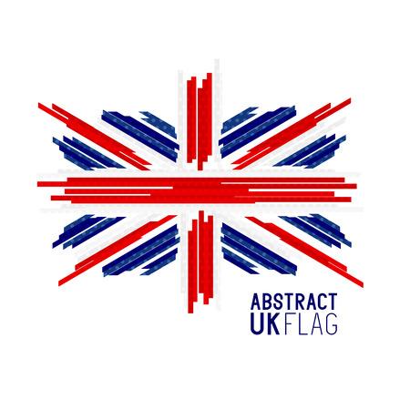 Abstract UK Union Jack Flag Vector. Vector illustration.