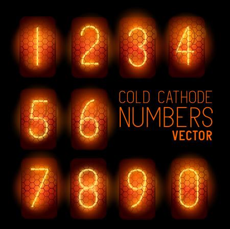cathode: Cold Cathode Retro Display Numbers, classic 1950