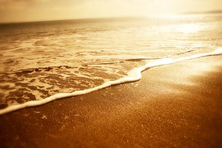 foam bubbles: Golden Sea Foam. Sunset close up of golden sea foam - Holiday background.