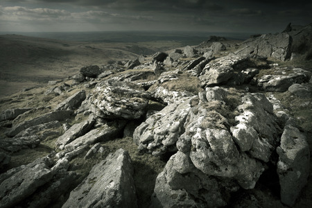rugged terrain: Rugged Wild Landscape - Dartmoor UK