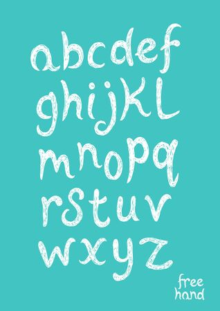 bold: Hand Drawn Vector Alphabet text. Bold Handwriting. Vector illustration.