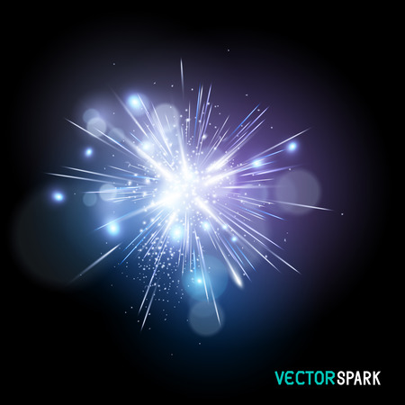 Vector Spark Effect - beautiful brightspark vector illustration. Vettoriali