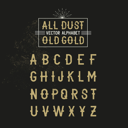 all caps: Bold all caps Vector Alphabet text for decoration and effects. Vector illustration.