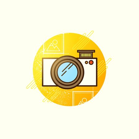 technoligy: Camera Icon Vector. Modern camera symbol vector illustration.