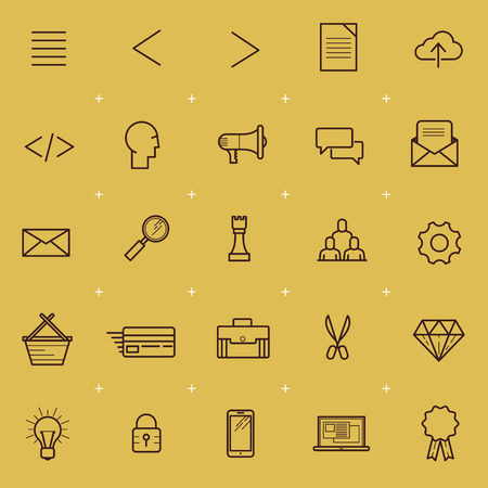 sms payment: Web and Interface Icon Set. A collection of internet and navigation icons. Vector illustration.