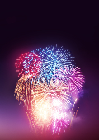 fireworks display: A Fireworks Display. A large fireworks event and celebrations.