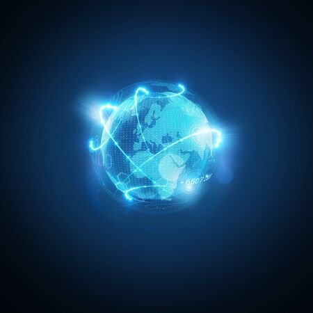 Connected World. Conceptual business  illustration.