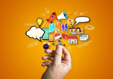 creative design: Creative Business .A person creative design elements..