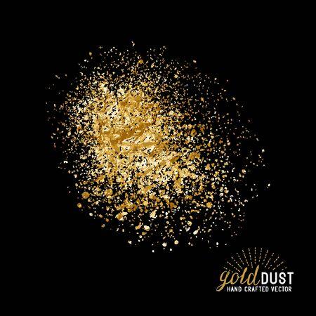 Poussière d'or. Déjouez les particules de poussière d'or. Vecteurs