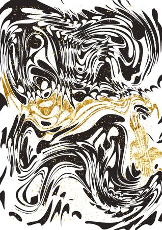 marbled: Black and Gold marble Paper Pattern. Abstract marble paint pattern with gold.
