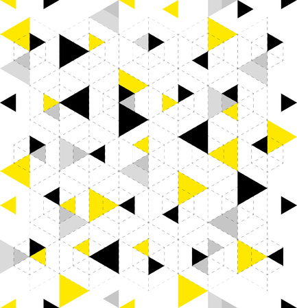 Seamless Geometric Triangle Pattern. Abstract geometric background design. Vector illustration. Çizim