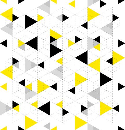 Seamless Geometric Triangle Pattern. Abstract geometric background design. Vector illustration. Illustration