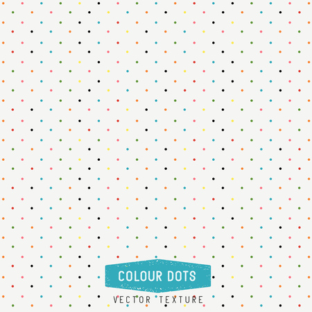 Colourful Dots Vector Texture. dots background. Vector Illustration. Hand made.