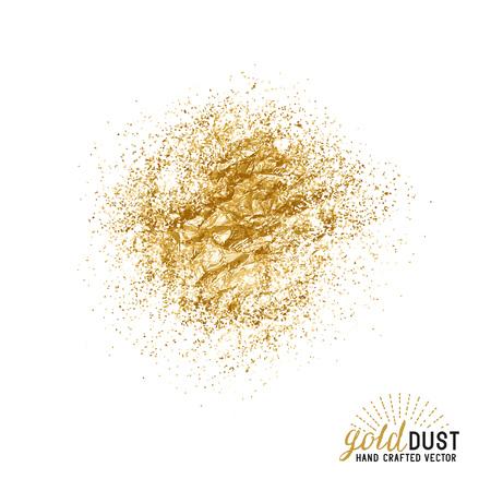 Vector Gold Dust. Foil gold dust particles. Vector illustration.
