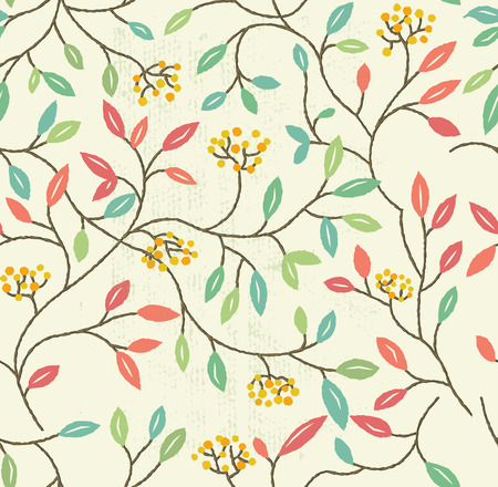 floral elements: Floral Spring Seamless Pattern. Repeating floral elements background. Vector illustration