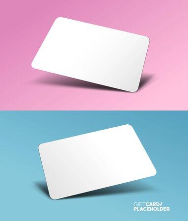 Una tarjeta de regalo plantilla de marcador de posición con un efecto 3D - ilustración vectorial
