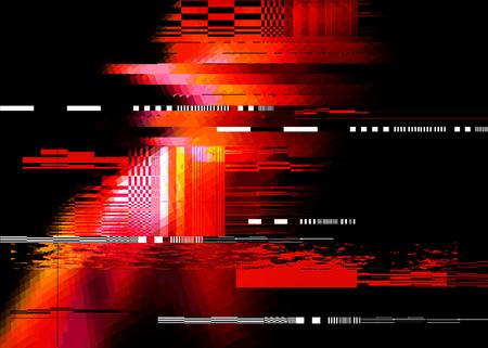 Redglitch hałasu zniekształcania tła tekstury. Ilustracji wektorowych Ilustracje wektorowe