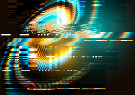 displacement: A glitch noise distortion texture background. Vector illustration