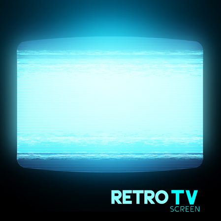 filthy: A retro TV screen with Static. Vector illustration