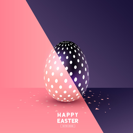 Een easter Egg abstract design. Vector illustratie Stock Illustratie