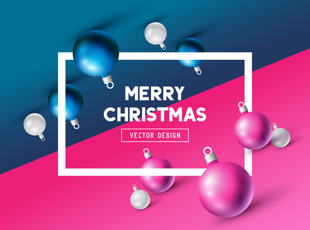 An abstract Christmas Design with 3D effects and room for promotion  holiday messages. Vector illustration Illustration