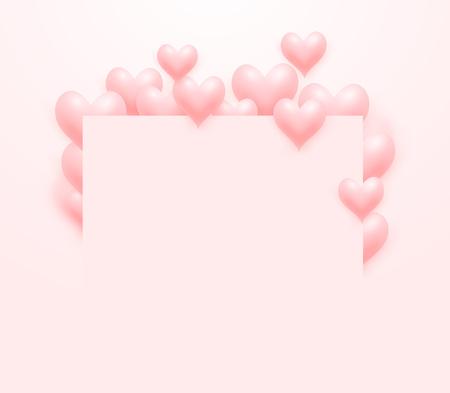 Love hearts celebrations event frame. Vector illustration.