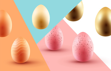An Easter Egg background with colourful eggs. Vector illustration.
