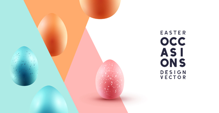 Happy Easter abstract background with chocolate eggs. Vector illustration.