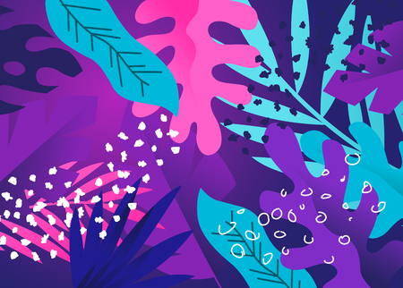 Colourful and creative floral plant background texture design. Vector illustration.
