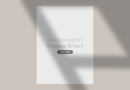 A long cast transparent shadow overlay effect. Vector illustration.