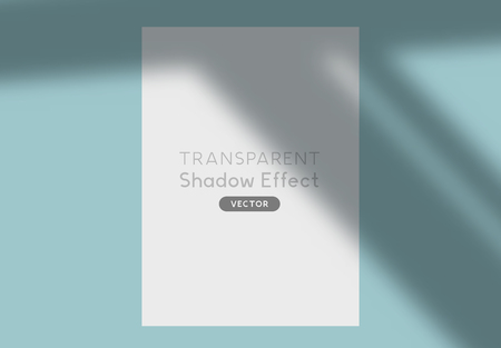 A transparent shadow silhouette overlay effect. Vector illustration. Illustration