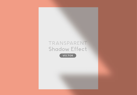 A realistic background shadow silhouette overlay for design. Vector illustration.