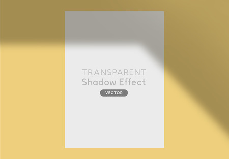 A realistic vector shadow silhouette overlay for design.