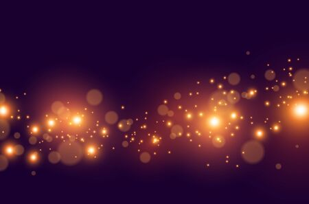 Glowing digital particles effect. Vector illustration.