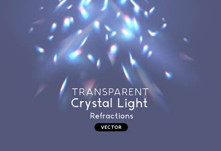 Crystal light pattern reflections. Overlay for backgrounds. Vector illsutration