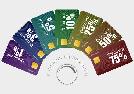 different discount cards. vector illustaration Vector