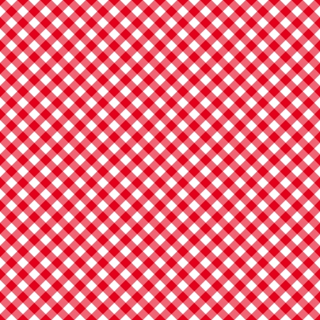 Table cloth seamless pattern red. Vector illustration Stock Illustratie