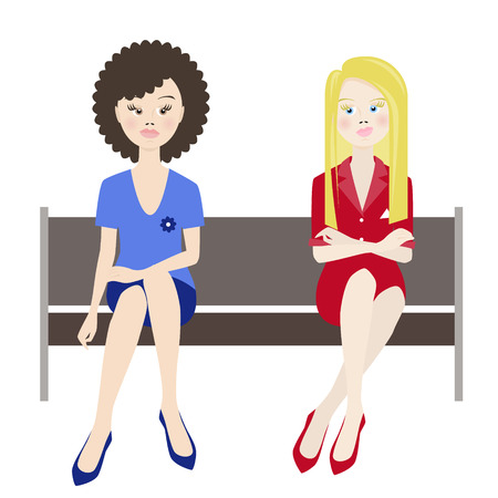 envy: women envy. vector illustration