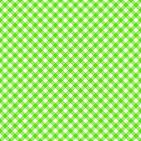 Table cloth seamless pattern green  イラスト・ベクター素材