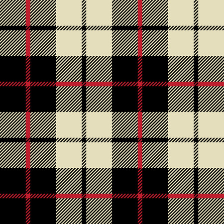 black and white fabric texture in a square pattern seamless; vector ilustration Illustration